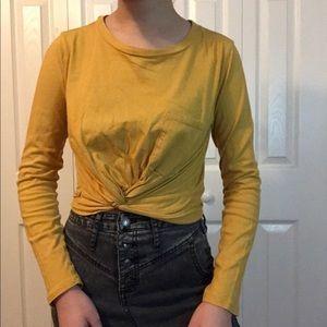 Forever 21 yellow long sleeve shirt